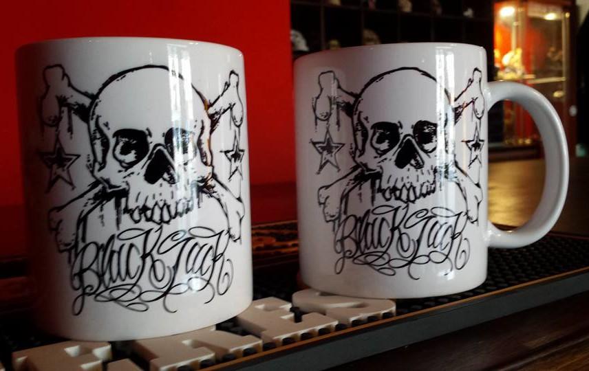 Black Jack Tattoo Coffee Mug